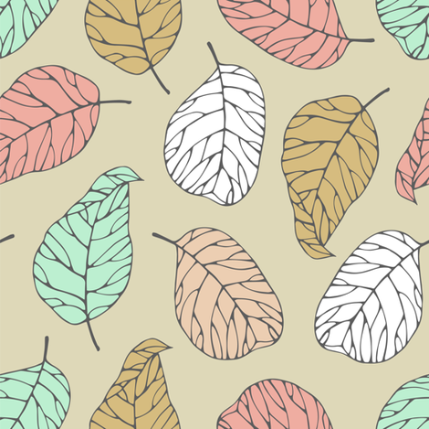 Autumn leafs fabric by smika88 on Spoonflower - custom fabric