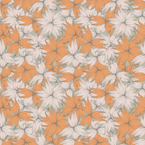 Magical flowers fabric by smika88 on Spoonflower - custom fabric