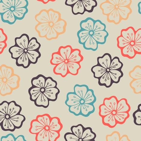 Apple blossom Falls fabric by smika88 on Spoonflower - custom fabric