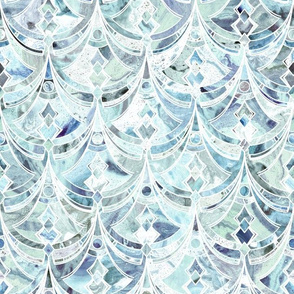 Ice and Diamonds Art Deco Pattern