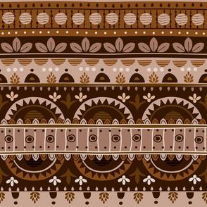Tribal Mandala brown Color St1
