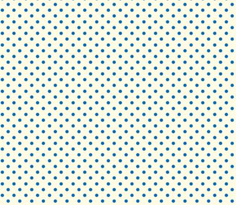 Polka Dot Lucy's Blue and Cream (Tiny) fabric by natalie&cheryl on Spoonflower - custom fabric