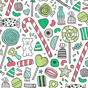 Candy Sweets Sugar Junk Food Holiday Christmas Colours Edition