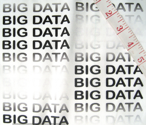 BIG DATA, black-gray text in a gradient on white, by Su_G_©SuSchaeferfabric