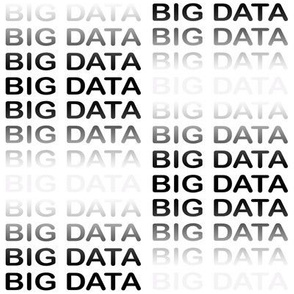 BIG DATA, black-gray text in a gradient on white, by Su_G