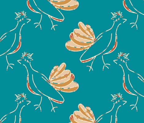 Prairie Autumn Roadrunners fabric by anniedeb on Spoonflower - custom fabric