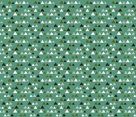 Herbs coordinate triangles (turquoise) fabric by heleen_vd_thillart on Spoonflower - custom fabric