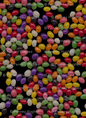 Jellybean Sweets on Black