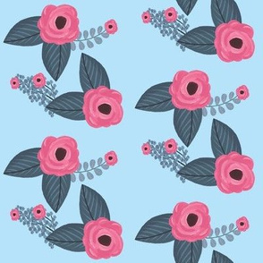 Swifting Floral Blue