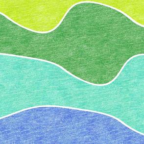 jumbo rainbow crayon waves