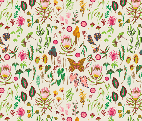 leaf_and_floral_study_light fabric by holli_zollinger on Spoonflower - custom fabric