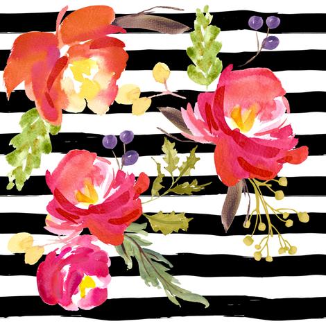Barcelona Nights Stripes fabric by shopcabin on Spoonflower - custom fabric