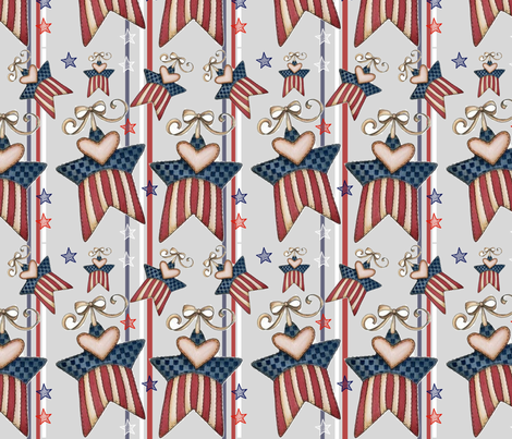 Stars and Stripes fabric by floramoon on Spoonflower - custom fabric