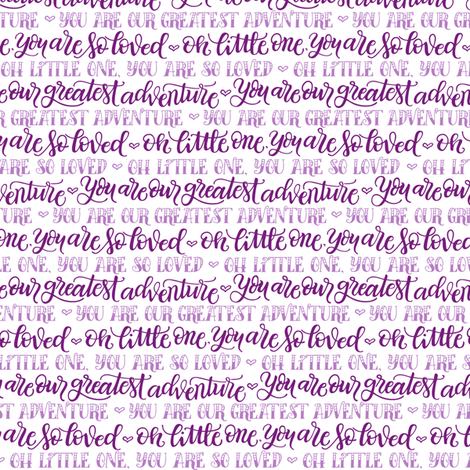 Our greatest adventure - Purple hues fabric by howjoyful on Spoonflower - custom fabric