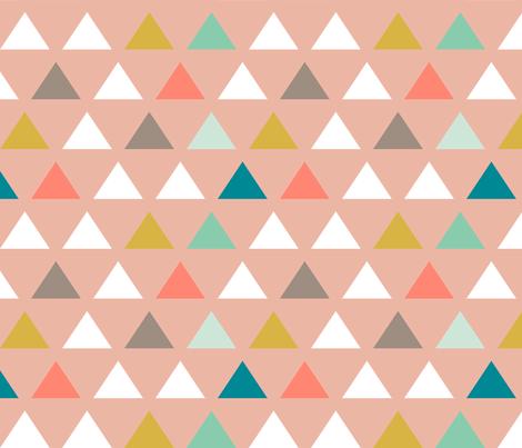 Custom Mod Triangles fabric by mrshervi on Spoonflower - custom fabric