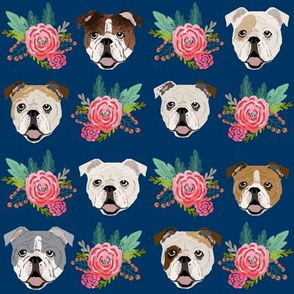 english bulldog florals flowers cute dog fabric cute dogs fabric florals vintage floral wreath fabrics