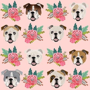 english bulldog pink florals fabric cute pink and mint floral fabric english bulldogs dog fabrics