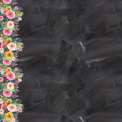 Autumn Blooms Painted Floral Border // Chalkboard
