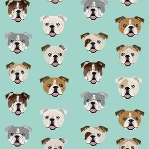 english bulldog faces fabric cute mint dog face design english bulldog fabrics cute dogs