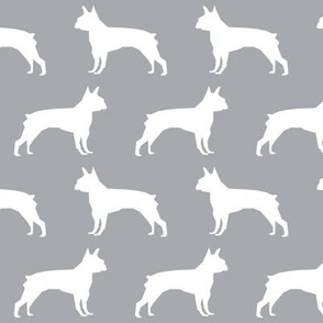 boston terrier grey fabric cute dog design best boston terrier silhouettes fabric cute dog silhouette fabric design