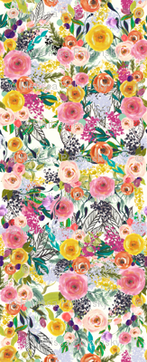 Autumn Blooms Painted Floral