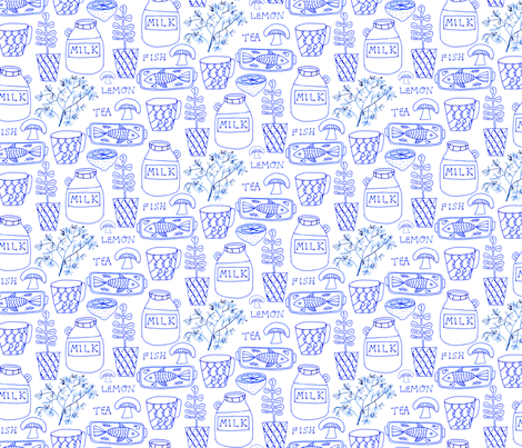 Milk Fish & Tea fabric by zoe_ingram on Spoonflower - custom fabric