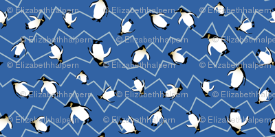 Penguins Ocean Stripe