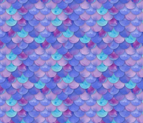 Purple mermaid scales fabric washburnart spoonflower for Fish scale wallpaper