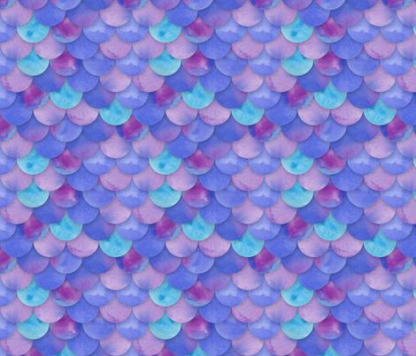 Purple Mermaid Scales fabric by washburnart on Spoonflower - custom fabric