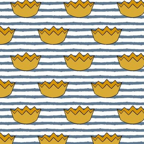 crowns || blue stripe