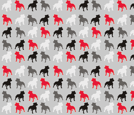 Four Color Staffies-4 fabric by floramoon on Spoonflower - custom fabric