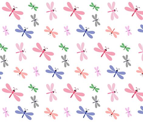 Dragonfly Colorful - MEDIUM fabric by drapestudio on Spoonflower - custom fabric