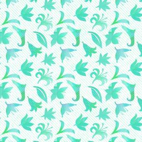 Lillian's Flowers in aqua