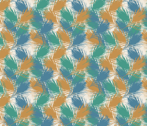 small T peacock gone wild fabric by diane_gilbert on Spoonflower - custom fabric