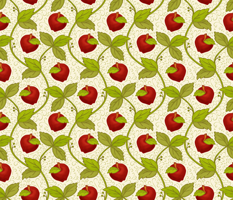 Once upon an Apple: 200%size fabric by mia_valdez on Spoonflower - custom fabric