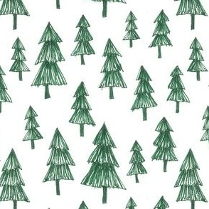 sketchy green tree pattern