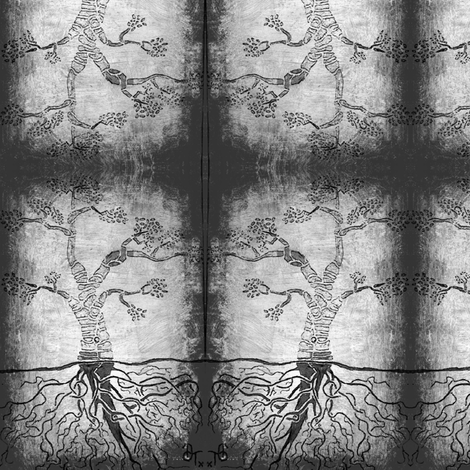 The graphite tree. fabric by clowntown on Spoonflower - custom fabric