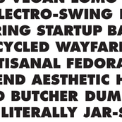 Hipster Text in Futura Black
