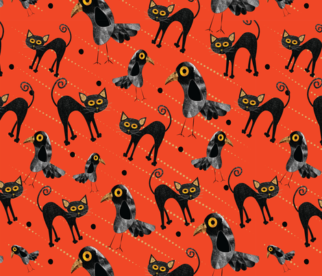 Frenemies fabric by accidental_rabbit on Spoonflower - custom fabric