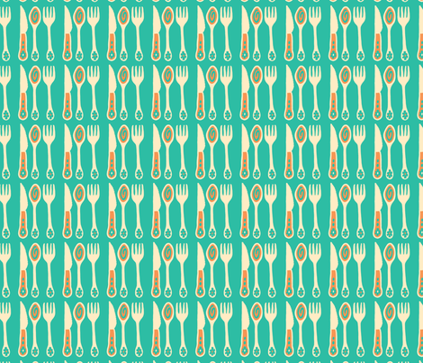Cutlery fabric by unblinkstudio on Spoonflower - custom fabric