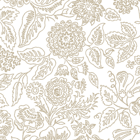 Rococo Flowers 1b fabric by muhlenkott on Spoonflower - custom fabric