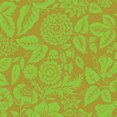 Rococo Flowers 1g fabric by muhlenkott on Spoonflower - custom fabric