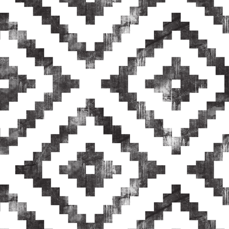 aztec distressed fabric by littlearrowdesign on Spoonflower - custom fabric