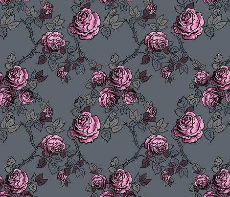 vintagegrey Rococo Puffs fabric by black_satin on Spoonflower - custom fabric