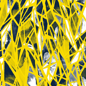 geometric - yellow indigo