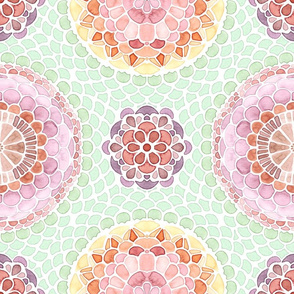 Watercolor Dahlia Lace