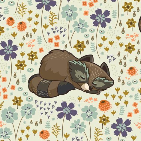 Free & Wild big scale fabric by penguinhouse on Spoonflower - custom fabric