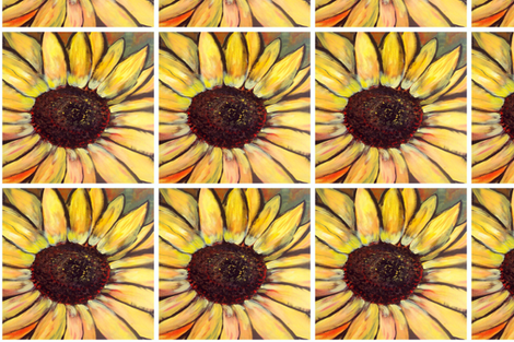 sunflower_quilt_square fabric by dogdaze_ on Spoonflower - custom fabric