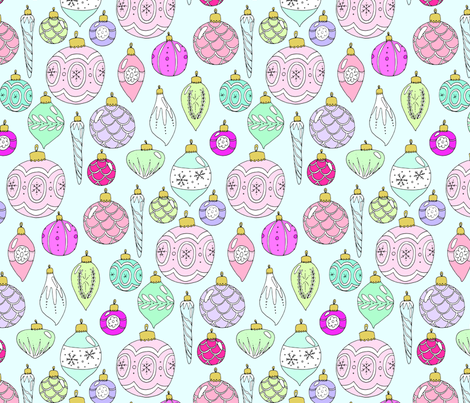 Christmas Baubles fabric by emmakisstina on Spoonflower - custom fabric