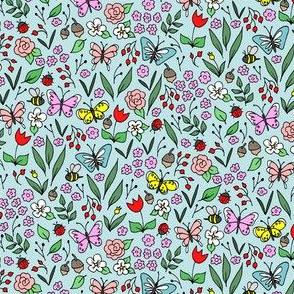 MIni Garden Floral Blue